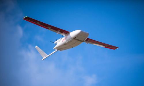 One of the zipline drones.